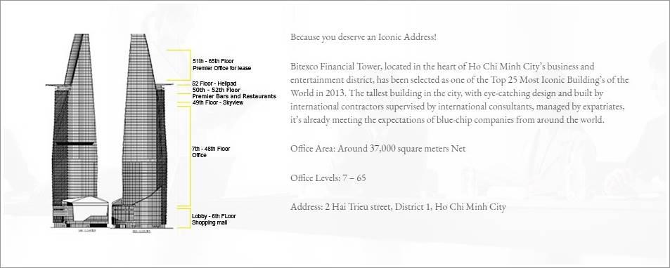 Kết cấu của Bitexco Financial Tower